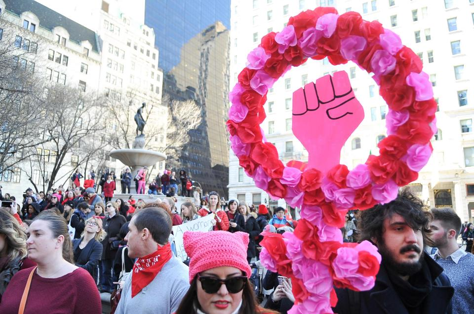 Women and men alike come together to make the 2018 International Women's Day something to remember.