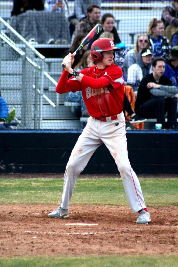 Junior+Varsity+Colin+Hauser+gets+ready+to+bat+in+his+game+against+Capital+High+School.%0A