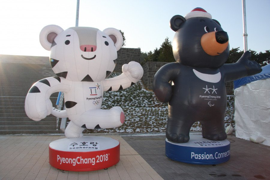 The mascots of the 2018 Winter Olympics are the white tiger, Soohorang, and the black bear, Bandabi. The white tiger is said to represent protection and security for all involved in the games, and the black bear is said to represent the courage and willpower of the Korean people.