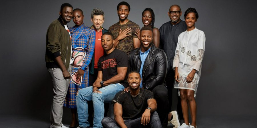 The+cast+of+Black+Panther%2C+one+of+this+year%E2%80%99s+most+diverse+movies.+%0A