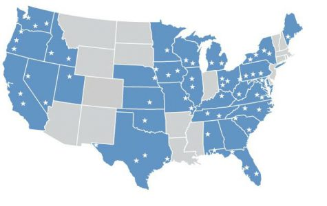 A map of the US shows the sheer number of organizations affiliated with Sinclair Broadcasting.