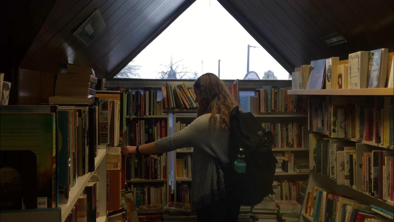 Photo caption: A visit to the bookstore never fails to result in some good summertime reading! Credit: Georgia Udall