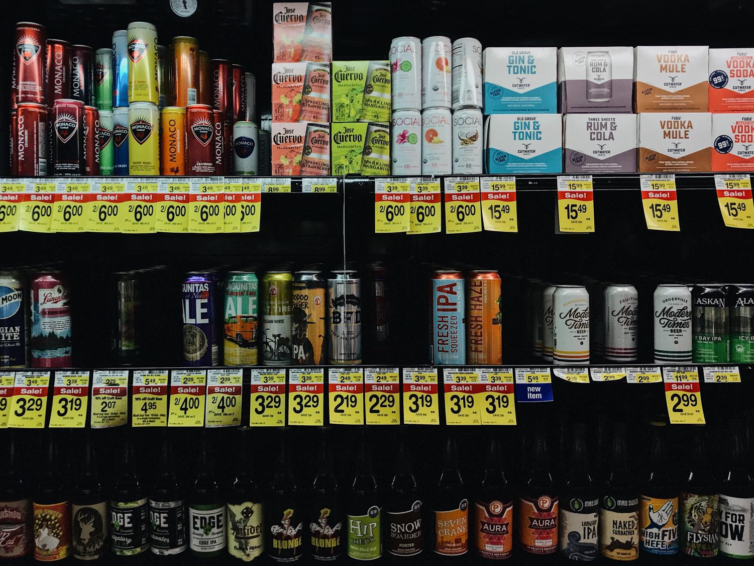 Alcoholic beverages at the local Albertsons that you might find around the Boise High party scene.