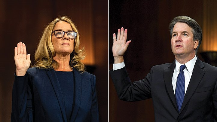 +Both+Kavanaugh+and+Ford+gave+emotional+testimonies+in+front+of+the+Senate+Judiciary+Committee+on+September+27th.