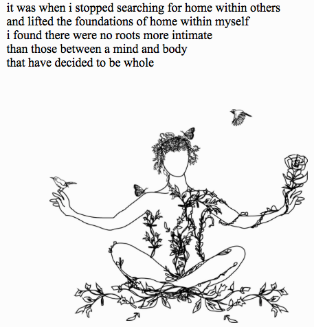 Illustration from Rupi Kaur (The Sun and Her Flowers)