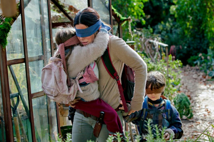 Sandra Bullock portraying Malorie Hayes in a scene of the new and acclaimed Netflix release, 'Bird Box'.