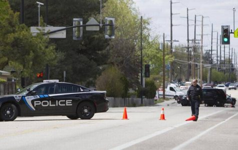 Photo taken from Idaho Statesman of Boise officers on duty.