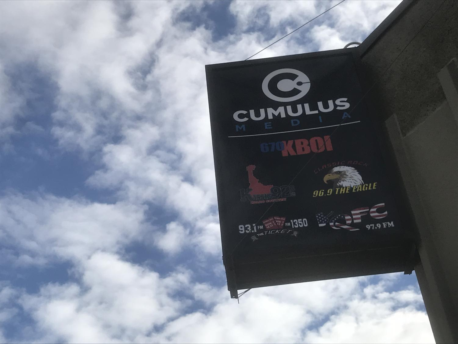 The Cumulus office in downtown Boise that broadcasts local radio stations.