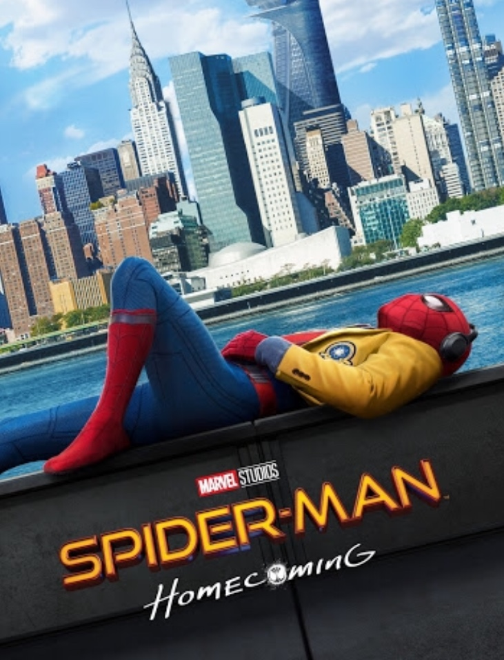 "A poster for the 2017 marvel movie ""Spider-Man Homecoming"""