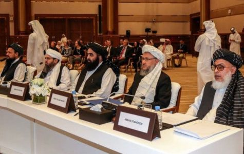 Taliban representatives at peace talks in Doha, Qatar. (Karim Jaafar/Agence France-Presse — Getty Images) m Jaafar/Agence France-Presse — Getty Images Kari m Jaafar/Agence France-Presse — Getty Images  Karim Jaafar/Agence France-Presse — Getty Images