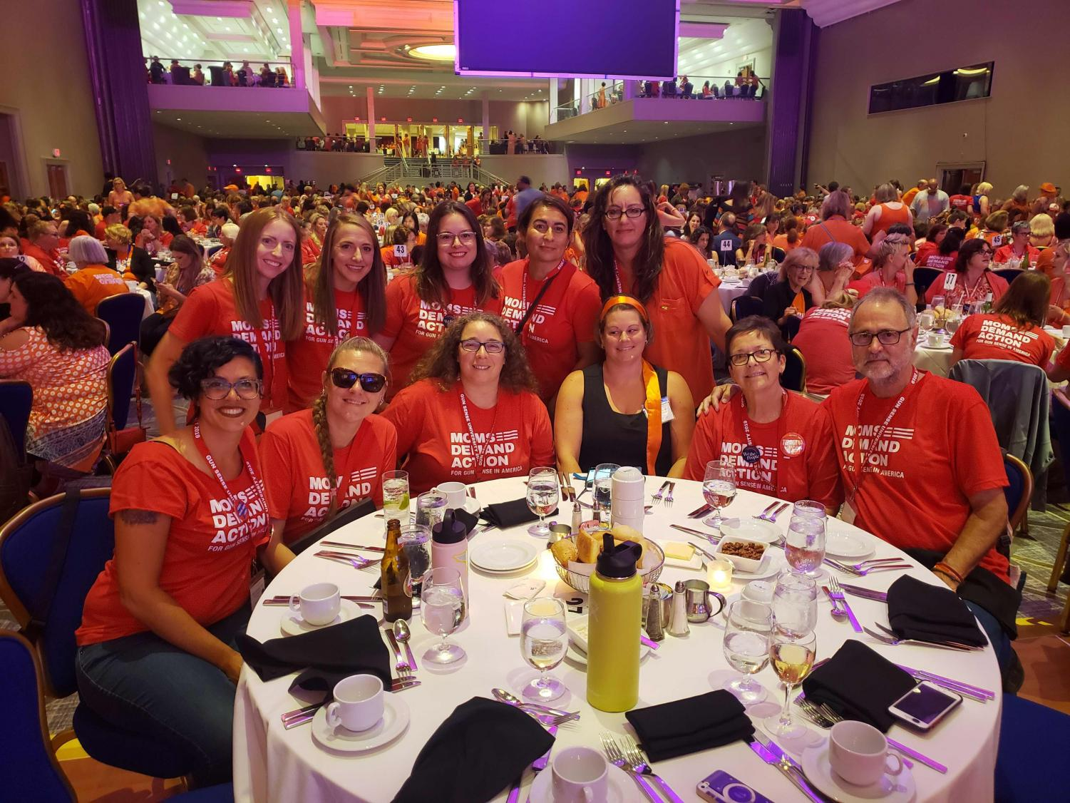 """These are Idaho volunteers at the (Moms Demand Action) national conference this summer,"" Jess Westhoff, pictured back row, first from the left, explains."