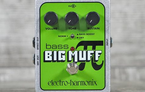 The classic 'Electro-Harmonix Bass Big Muff Pi', perhaps the most recognizable Bass Guitar fuzz pedal around. Known for its simple controls and its humongous sound, the pedal and its various six-string counterparts can be found on the pedalboards of musicians across a whole host of genres.