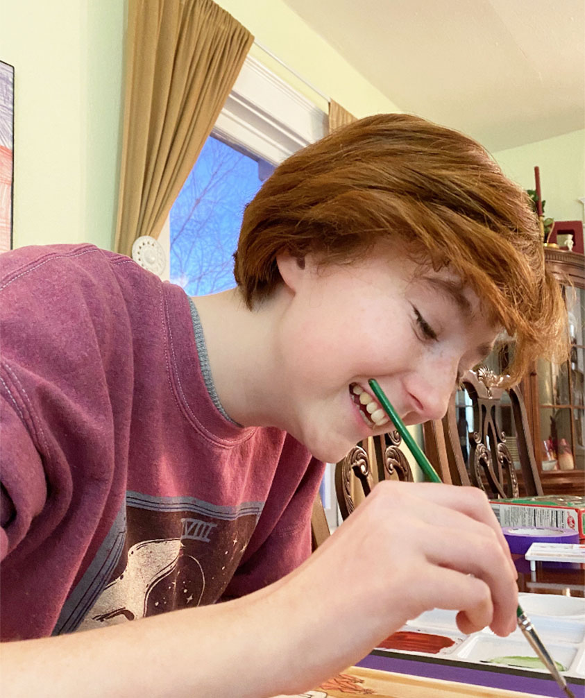 Our first cover artist of 2020, Olivia Taylor, drawing in her natural element.