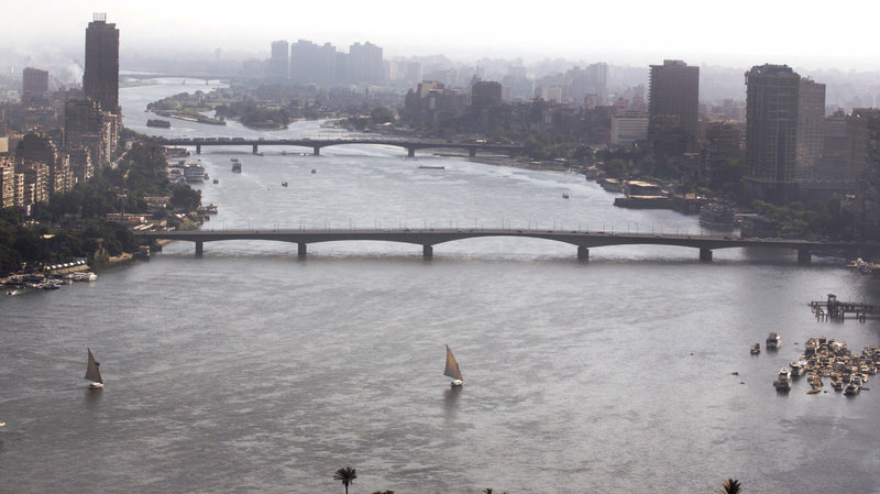 Boats sailing on the Nile River (Amr Nabil/AP).