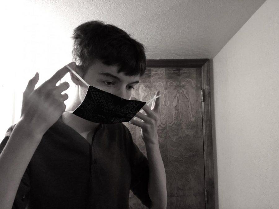 Putting on the mask hides emotion.