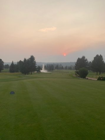 What may appear to be a cloudy day in McCall, Idaho, this is actually smoke covering a beautiful sunny day.What may appear to be a cloudy day in McCall, Idaho, this is actually smoke covering a beautiful sunny day.