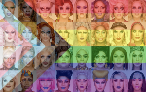 A collage of several influential Drag Queens. What Drag is all about and the communities involved.