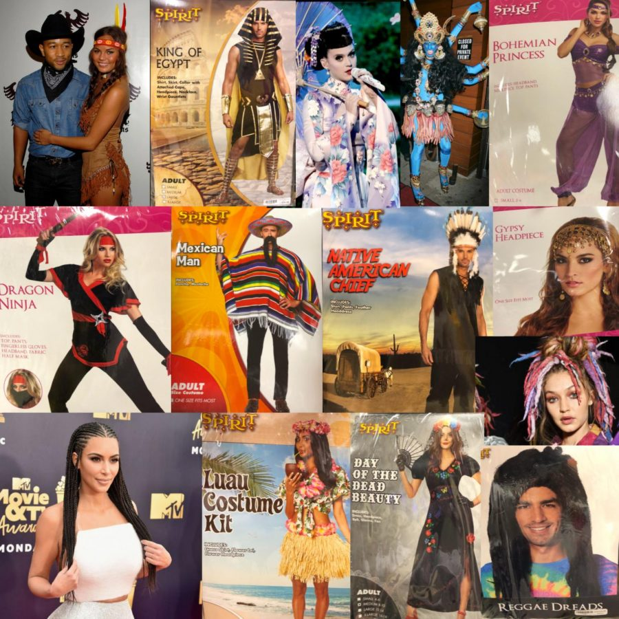 Collage+of+celebrities+and+halloween+costumes+that+are+practicing+cultural+appropriation.