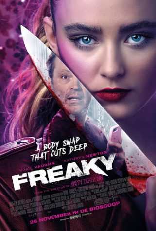 "Kathryn Newton takes on the role of Millie Kessler side by side with Vince Vaughn, who plays a serial killer called the ""Blissfield Butcher"" in this comedy slasher retelling of the Freaky Friday franchise."