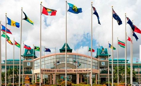 The Caribbean Community headquarters, where the CRC constructed its 10-point plan for reparations. (VTV)