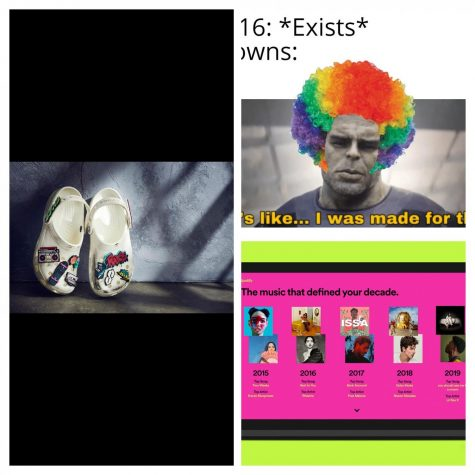 These trends took the world by storm. Who would have thought Crocs would be cool and trendy? Clowns would become a problem. Seeing what people listened to, is all the rage at the end of the year.