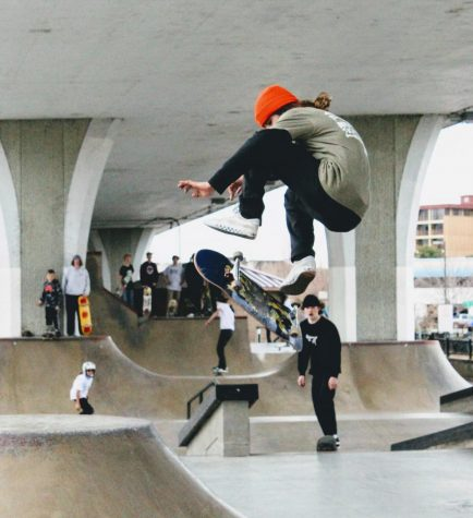 Here is Parker Hopkins at SkateFort 2019, doing what he loves!