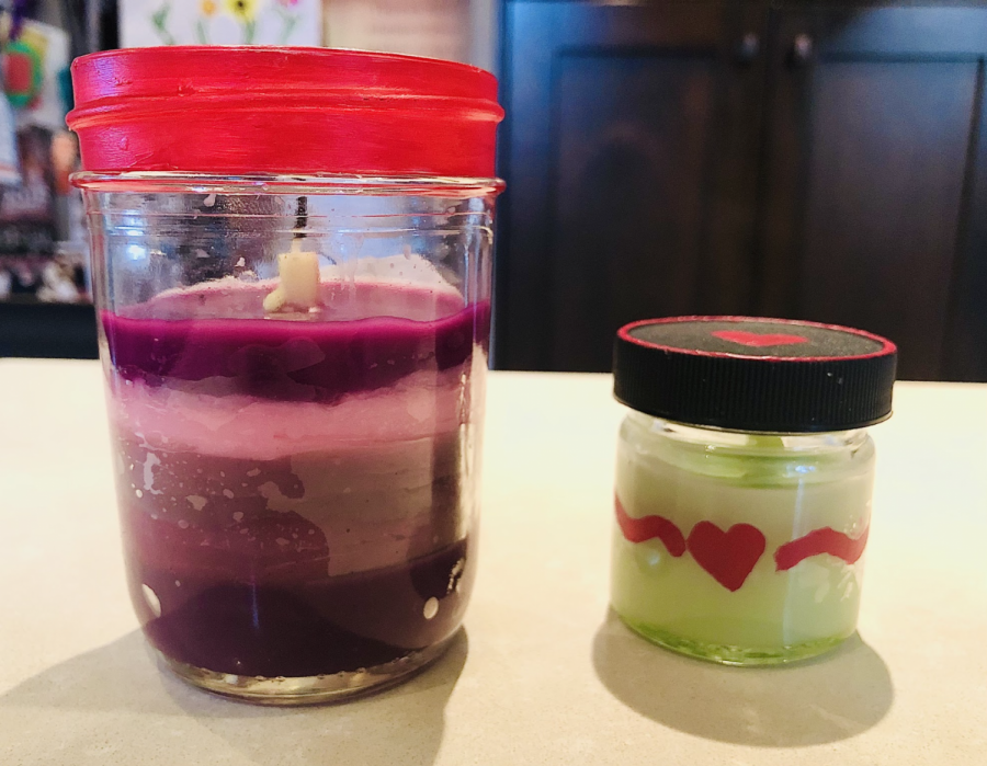 Simple DIY Valentines Day candles, created with the help of Boss Vision's Valentine