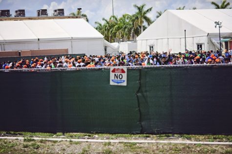 The migrant children's detention center in Homestead, Florida is a topic of debate within the government. (Carrie Feit)